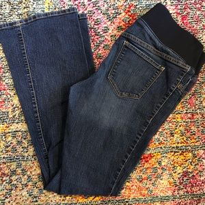 Old Navy Maternity Jeans, Low Rise, Slim Boot Cut